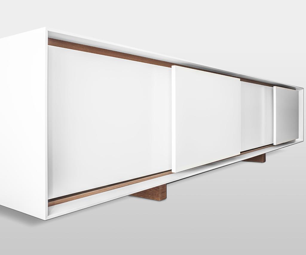 mobile basso, contenitore, design, milano, ettore lariani, cabinet, corian, teak siam